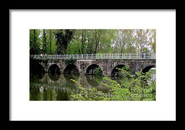 Bruges Framed Print featuring the photograph Bruges Bridge 2 by Randall Weidner