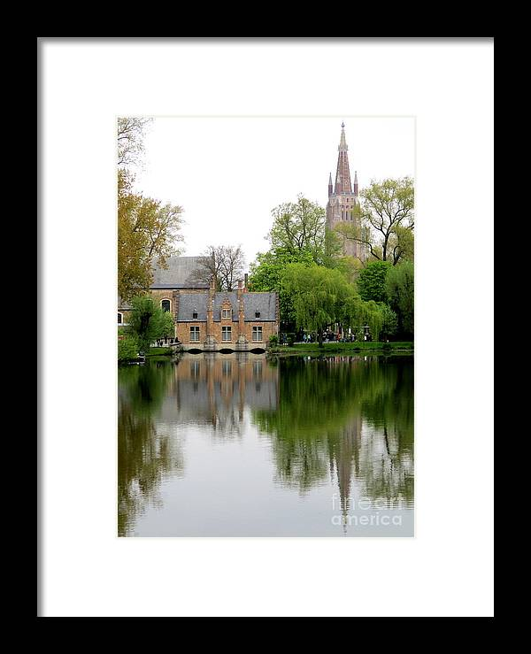 Bruges Framed Print featuring the photograph Bruges Minnewater 5 by Randall Weidner