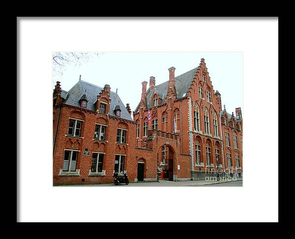 Bruges Framed Print featuring the photograph Bruges Sashuis 5 by Randall Weidner