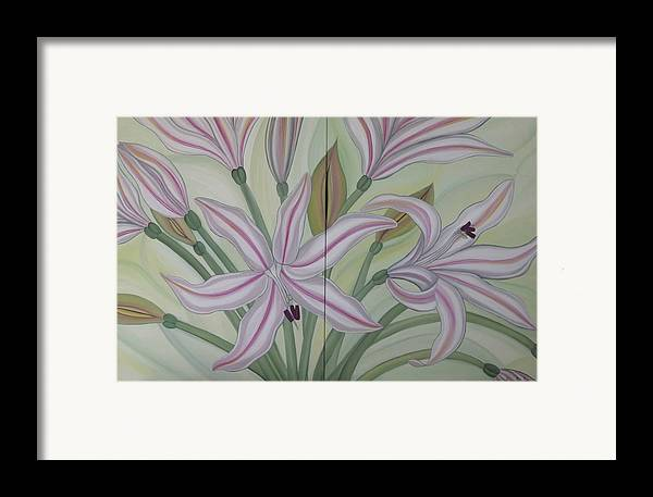 Marinella Owens Framed Print featuring the painting Brunsvigia Grandiflora by Marinella Owens
