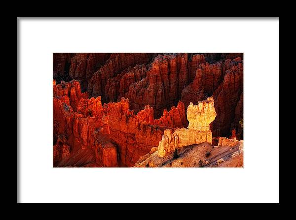 Bryce Canyon Scenic Framed Print featuring the photograph Bryce Canyon Sunrise by Bob Coates