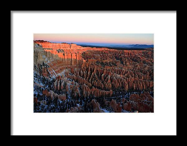 Bryce Framed Print featuring the photograph Bryce Canyon Sunrise by Pierre Leclerc Photography