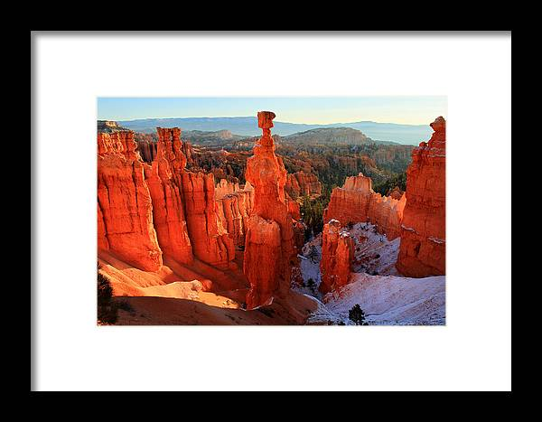 Bryce Framed Print featuring the photograph Bryce Canyon's Thor's Hammer by Pierre Leclerc Photography