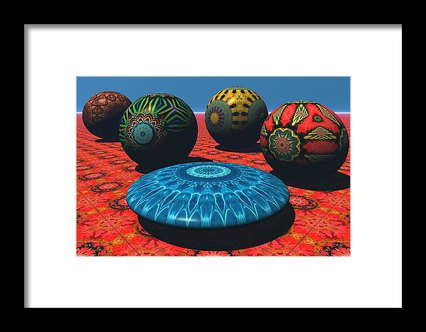 Bryce Framed Print featuring the digital art Bryce Kaleidoscope Sampler by Lyle Hatch