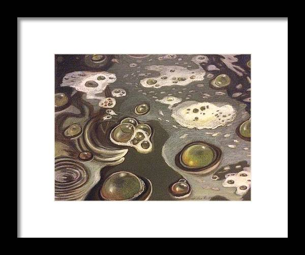 Bubbles Framed Print featuring the painting Bubble Boil and Trouble 1 by Art Nomad Sandra Hansen