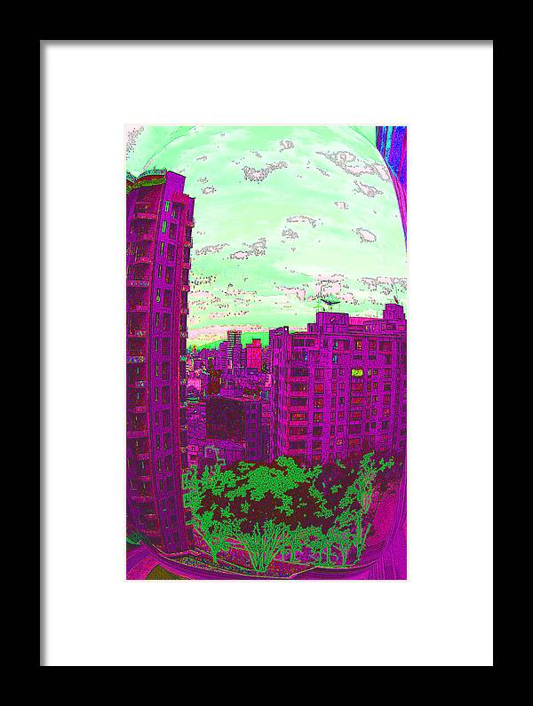 Digital Art Framed Print featuring the digital art Bubble by Diana Maria Parra