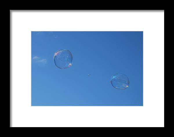 Bubbles Framed Print featuring the photograph Bubble Forms I by Marilynne Bull