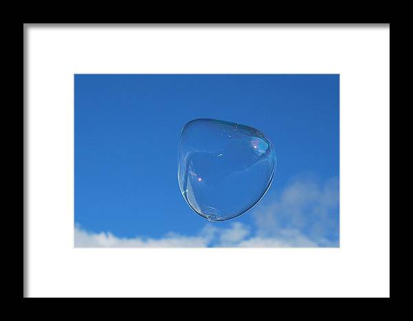 Bubble Framed Print featuring the photograph Bubble Forms IIi by Marilynne Bull