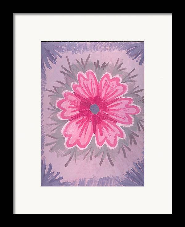Flower Framed Print featuring the painting Bubblegum by Laura Lillo