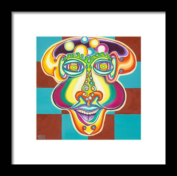 Fantasy Framed Print featuring the painting Bubbles Head by      Gillustrator