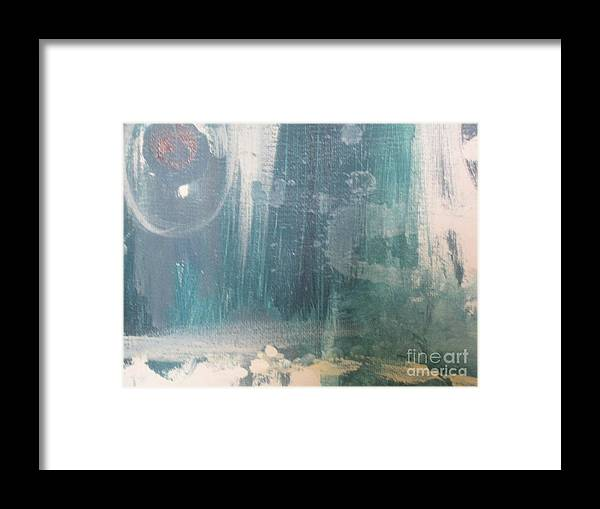 Abstract Framed Print featuring the painting Bubbly by Vicki Lynn Sodora