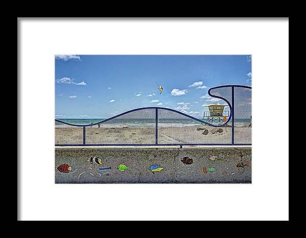 Buccaneer Beach Framed Print featuring the photograph Buccaneer Beach by Ann Patterson