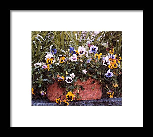 Flowers Framed Print featuring the photograph Bucket Of Flowers by Donna Bentley