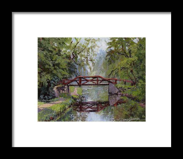 Pennsylvania Framed Print featuring the painting Bucks County Days by L Diane Johnson