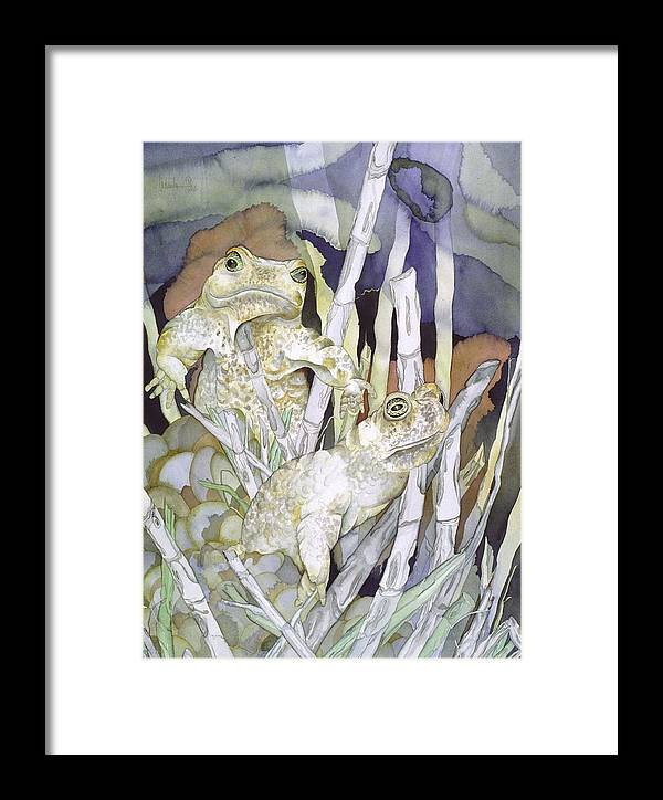 Animals Framed Print featuring the painting Bud And Weiss by Liduine Bekman
