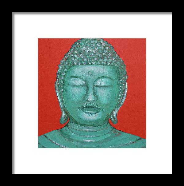 Buddah Framed Print featuring the painting Buddah I by Sue Wright