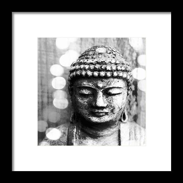 Buddha Framed Print featuring the mixed media Buddha by Linda Woods