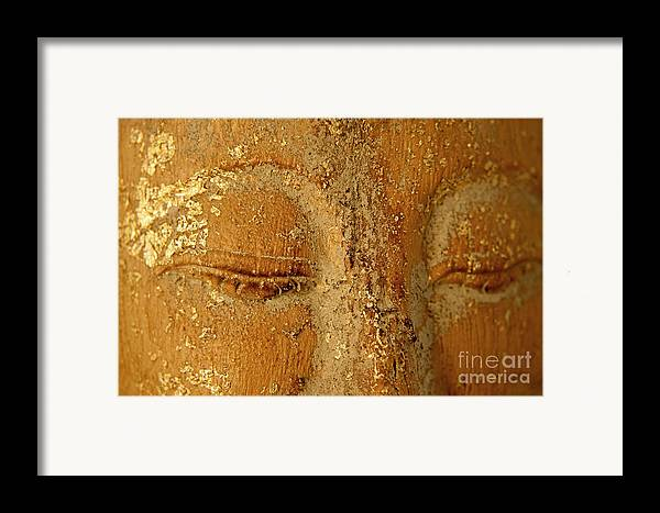 Zen Framed Print featuring the painting Buddha's Eyes by Julia Hiebaum