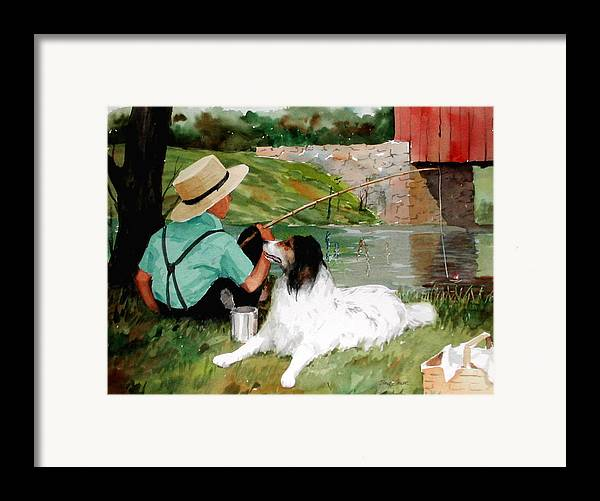 Amish Framed Print featuring the painting Buddies by Faye Ziegler