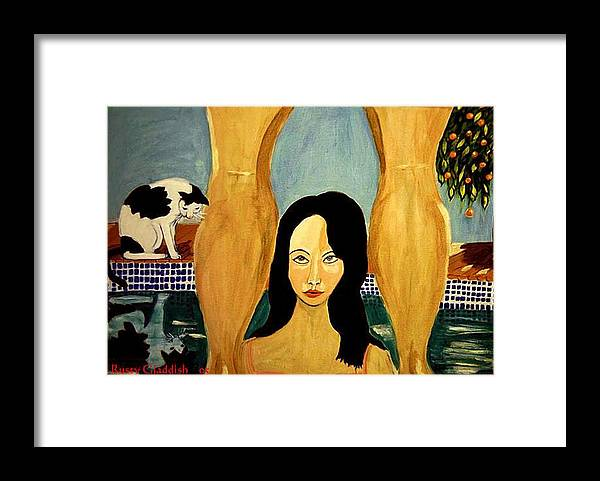 Cat Framed Print featuring the painting Buena Vista by Rusty Gladdish
