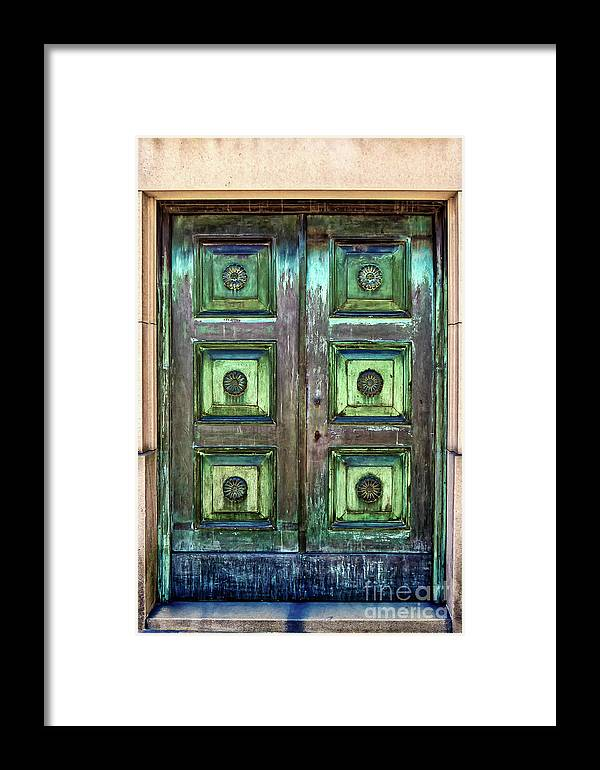 Buenos Aires Framed Print featuring the photograph Buenos Aires Church Crypt Door by Stefan H Unger