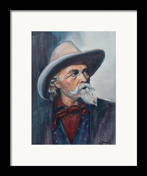 Man Framed Print featuring the painting Buffalo Bill by Sylvia Stone