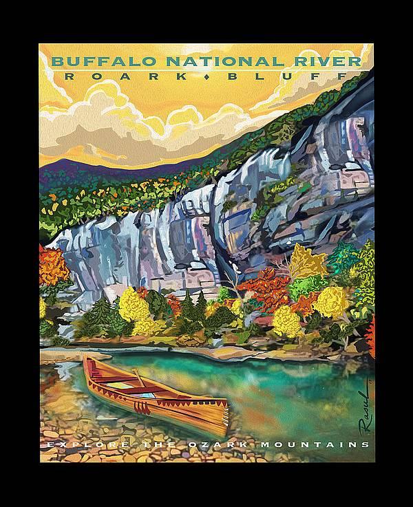 Buffalo National River Art by Sarah Rasul