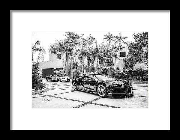 Car Framed Print featuring the mixed media Bugatti Chiron 5 by Garland Johnson