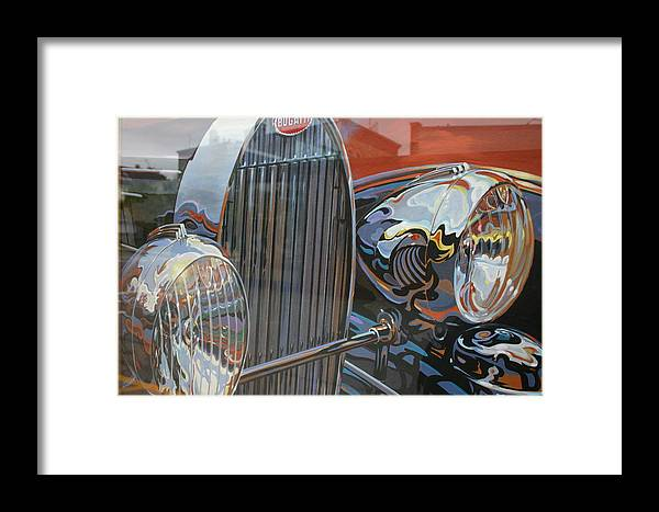 Picture Of A Painting Framed Print featuring the photograph Bugatti by Dennis Curry
