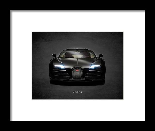 Bugatti Veyron Framed Print featuring the photograph Bugatti Veyron by Mark Rogan