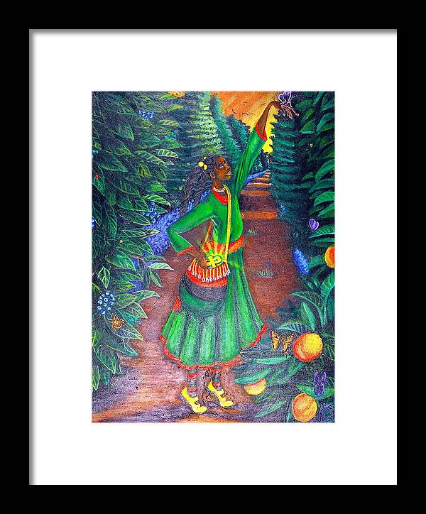 Maliksart Framed Print featuring the painting Buggin Out by Malik Seneferu