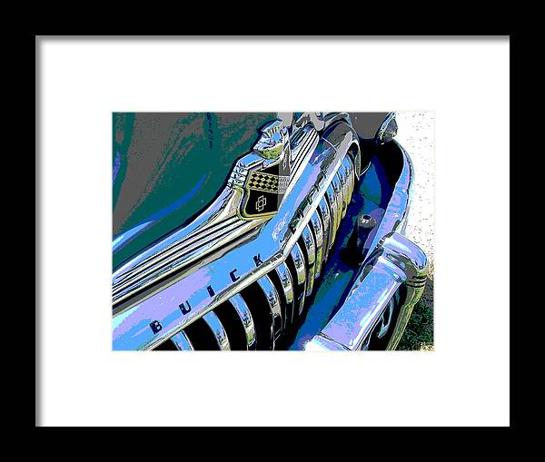 Car Framed Print featuring the photograph Buick Eight by Audrey Venute