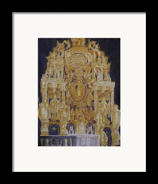 Saints Framed Print featuring the painting Builders' Guild by Nik Helbig