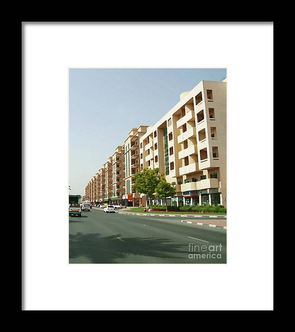 Digital Paintings Framed Print featuring the painting Building - 10 by Hussein Kefel