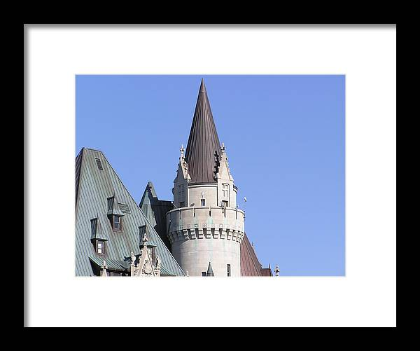 Castle Framed Print featuring the photograph Building And Blue Sky by Richard Mitchell