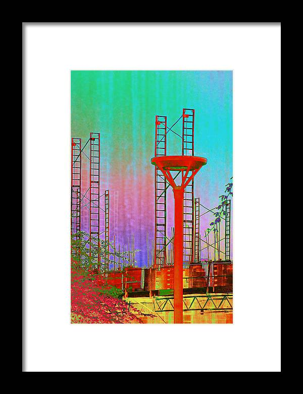Construction Framed Print featuring the photograph Building In The SouthWest by Richard Henne