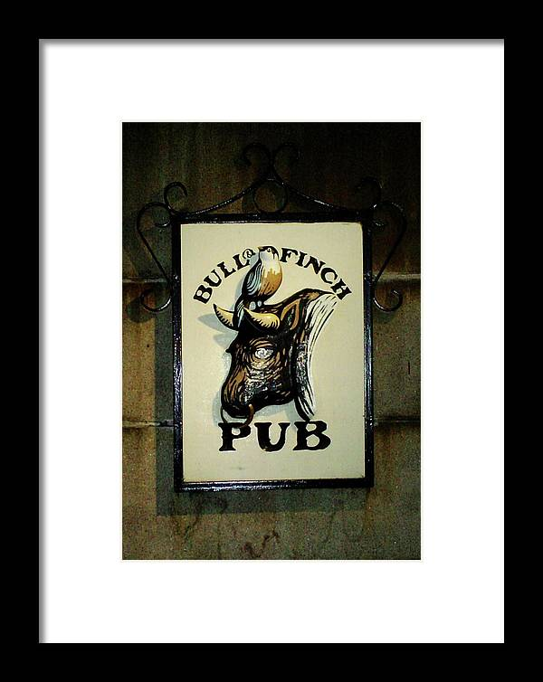 Bull Framed Print featuring the photograph Bull And Finch Pub by Pamela Smith