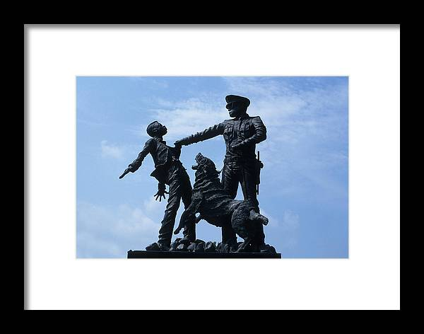Sculpture Framed Print featuring the photograph Bull Conner With Attack Dog by Carl Purcell