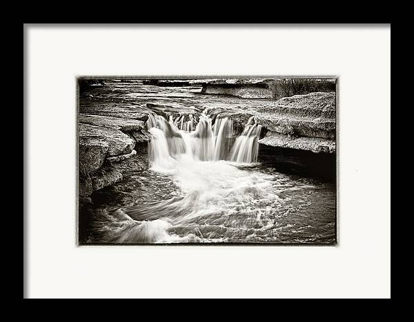 Waterfall Framed Print featuring the photograph Bull Creek Water Run by Lisa Spencer