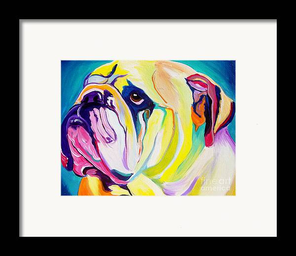 English Framed Print featuring the painting Bulldog - Bully by Alicia VanNoy Call