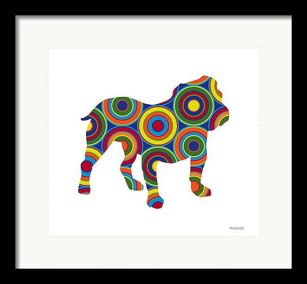 Animals Framed Print featuring the digital art Bulldog by Ron Magnes