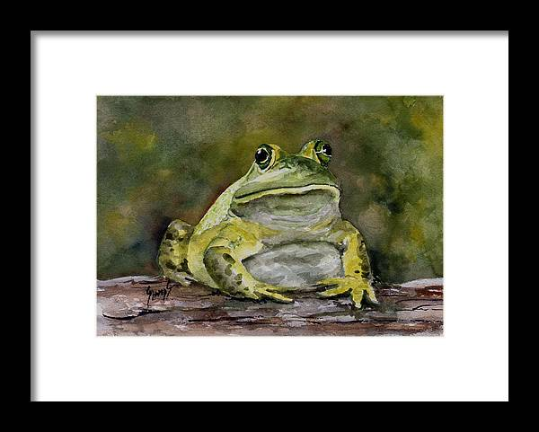 Frog Framed Print featuring the painting Bully by Sam Sidders