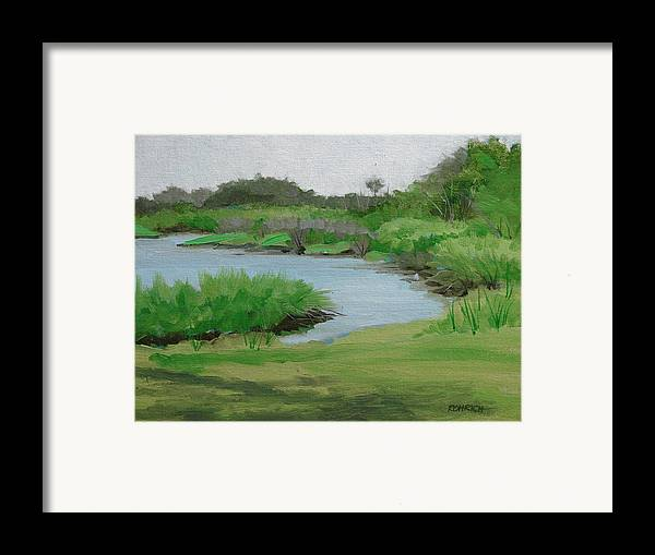 Landscape Framed Print featuring the painting Bulow Woods Creek by Robert Rohrich