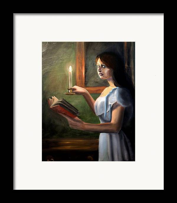 Night Framed Print featuring the painting Bump In The Night by Maryn Crawford