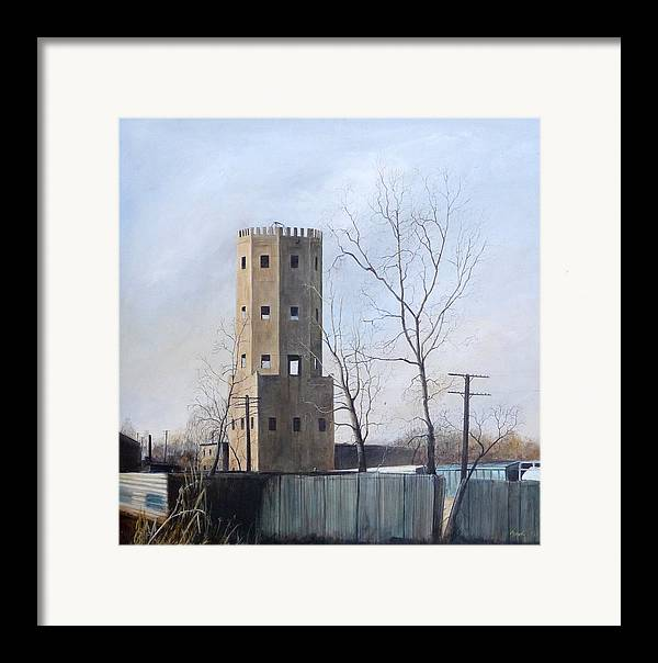 Landscape Framed Print featuring the painting Bum's Castle by William Brody