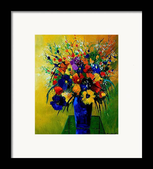 Poppies Framed Print featuring the painting Bunch 0508 by Pol Ledent