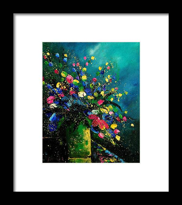 Flowers Framed Print featuring the painting Bunch 0807 by Pol Ledent
