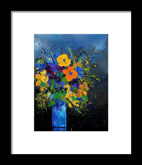 Poppies Framed Print featuring the painting Bunch 1007 by Pol Ledent
