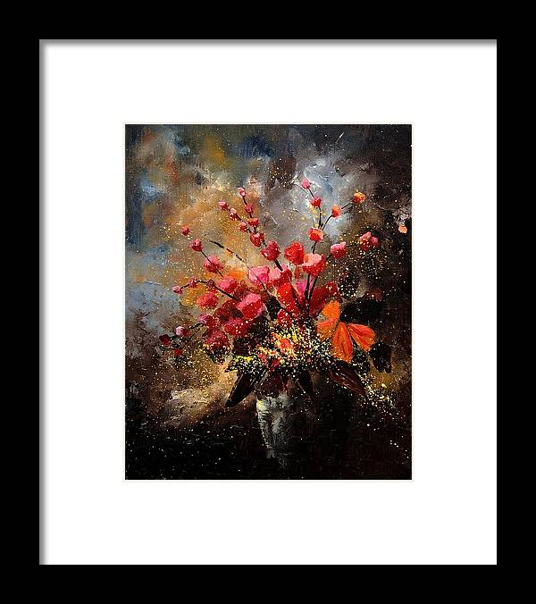 Poppies Framed Print featuring the painting Bunch 1207 by Pol Ledent
