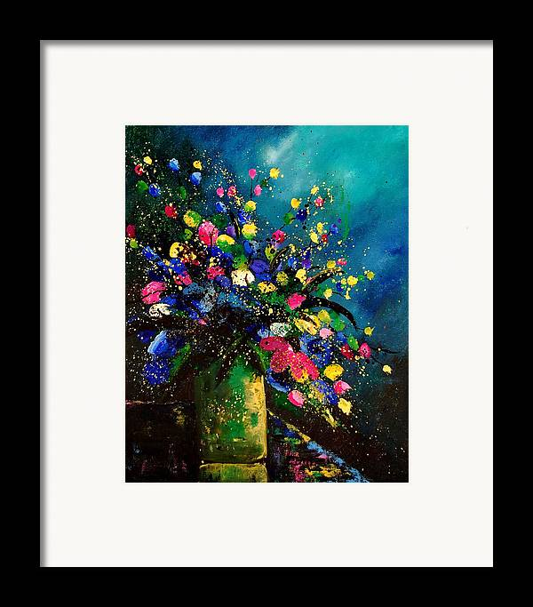 Poppies Framed Print featuring the painting Bunch 45 by Pol Ledent